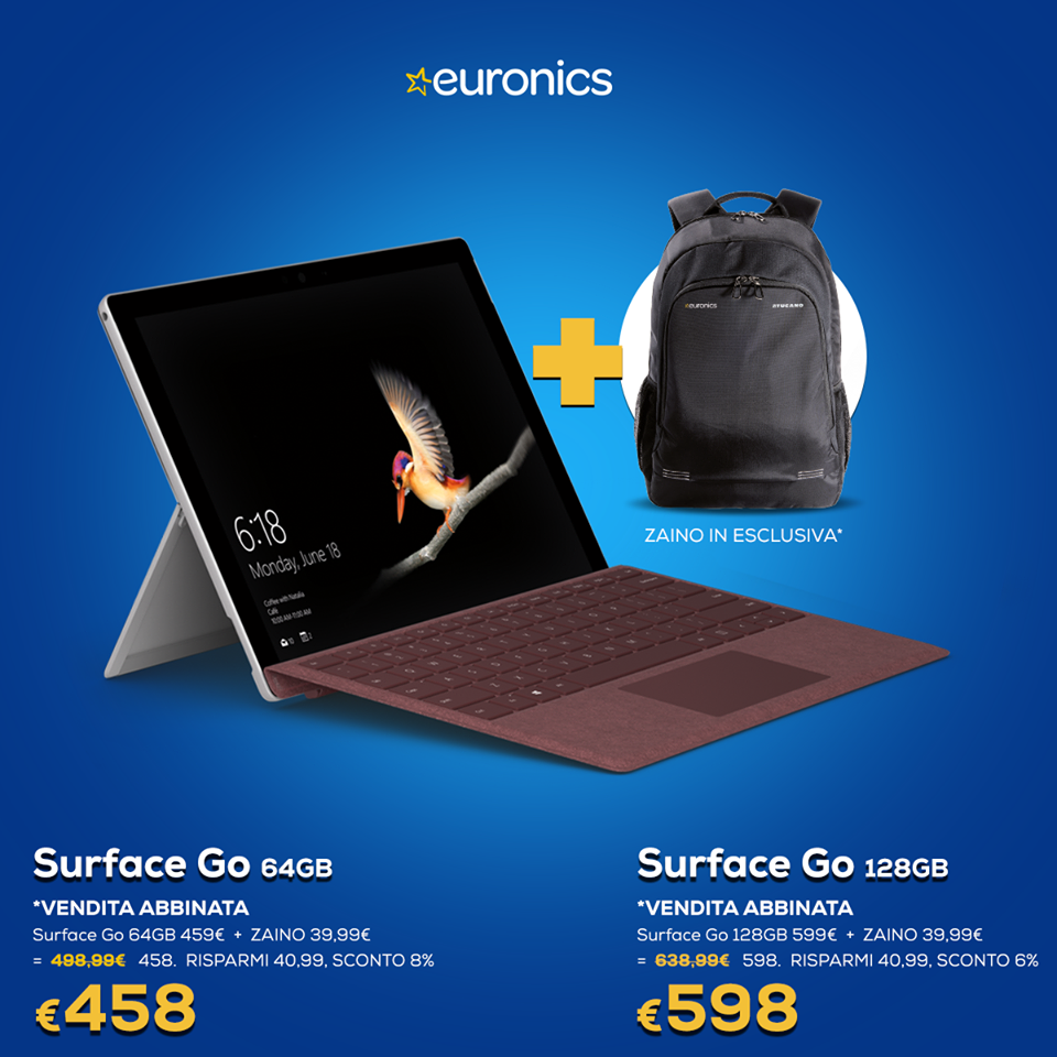 Euronics codice promo Surface Go