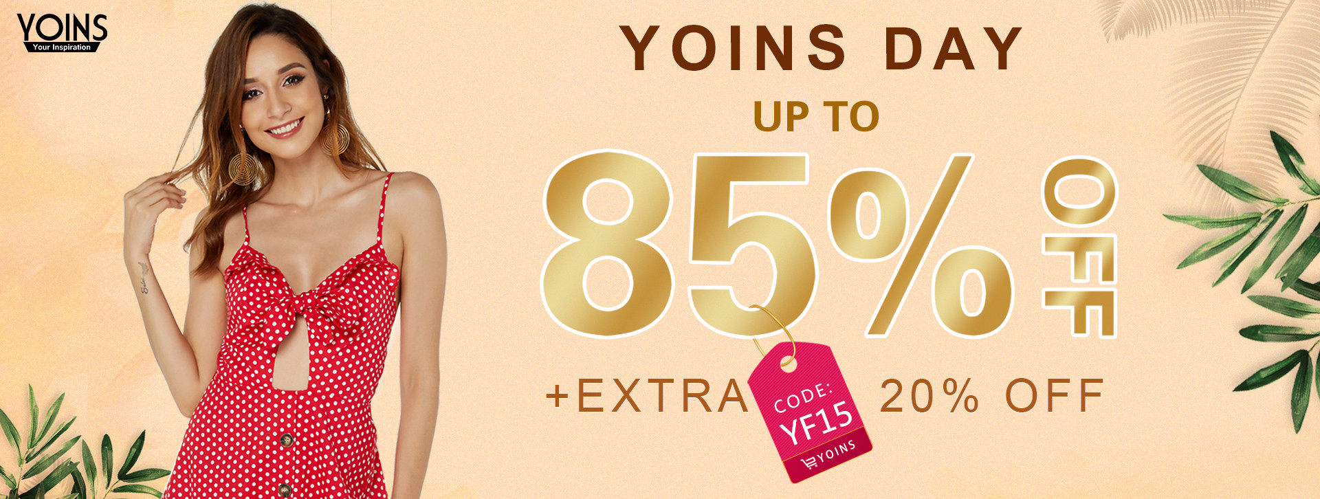 yoins codice coupon