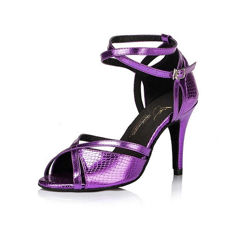 Meijili - Scarpe con plateau donna, Blu · scarpe da tango